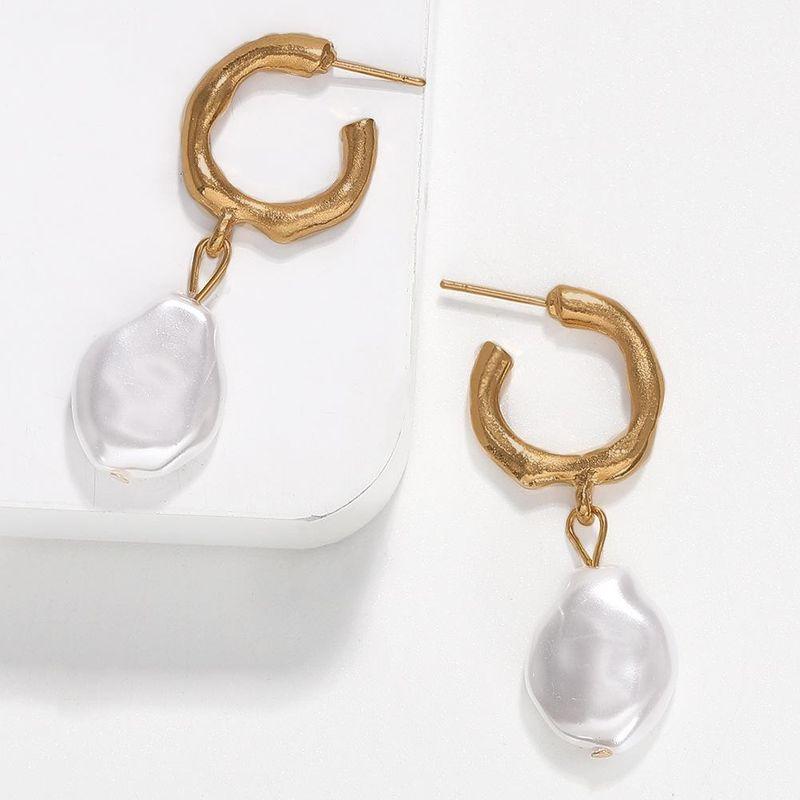Pearl alloy earrings beach small fresh pearl earrings for women NHJQ195445