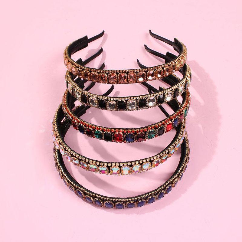 Headband Light Luxury Diamond Hair Accessories Hot Selling Alloy Exaggerated Headband NHMD195448