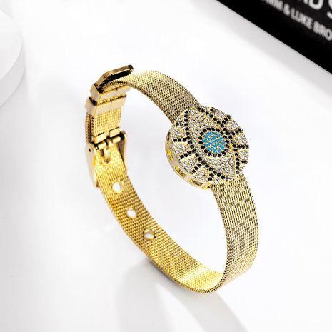 Pulsera de aleación pulsera simple pulsera de diamantes ajustable NHMD195449's discount tags