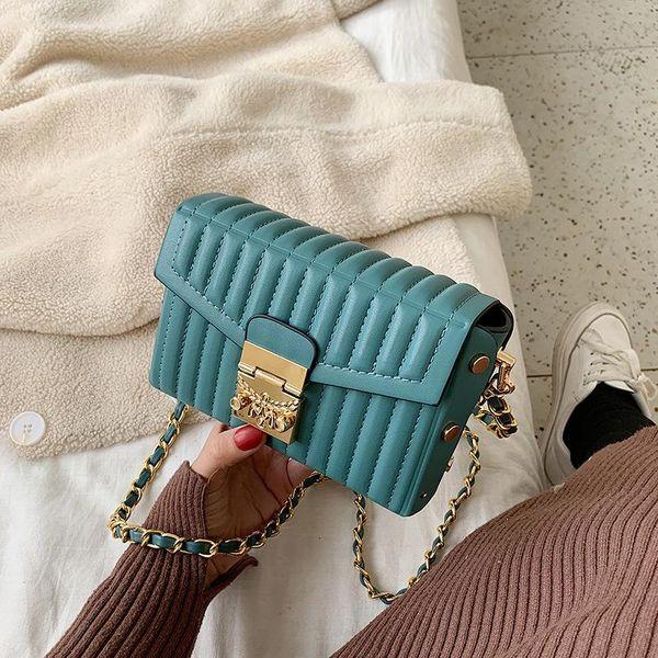 Small bag women's single shoulder slung fashion chain small square bag NHTC195453