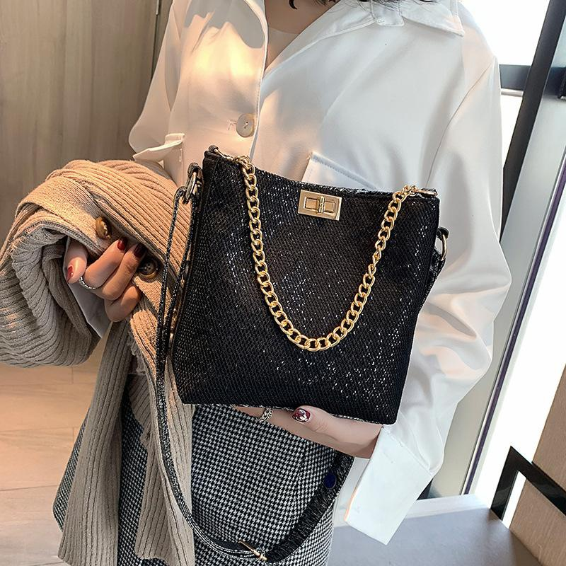 New fashion personalized sequin bucket bag NHTC195517