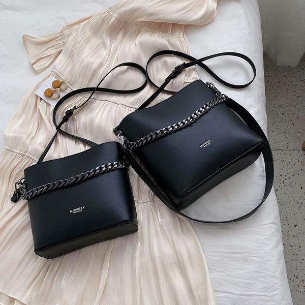 Bag casual women's bag new Korean fashion wild one-shoulder messenger bucket bag NHTC195523