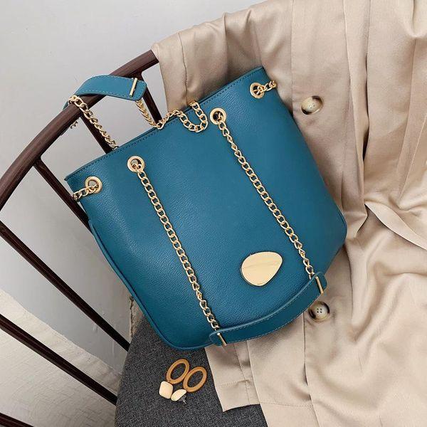 Large-capacity bags women's new trendy fashion bags Korean messenger bags bucket bags NHTC195536