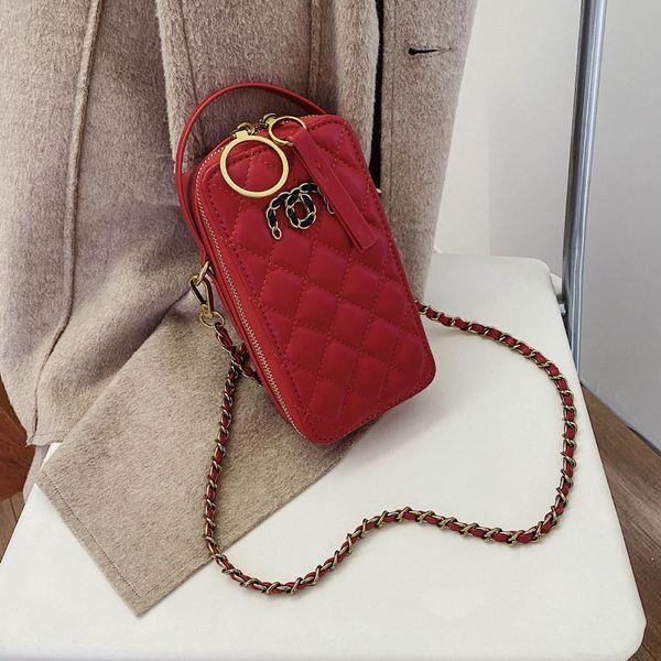 Women's new Korean wild rhombus messenger bag fashion mobile phone shoulder bag NHTC195547