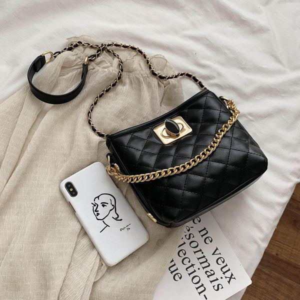 Bag Messenger Bag Women Bag New Korean Wild Chain Bag Fashion Bucket Bag NHTC195548