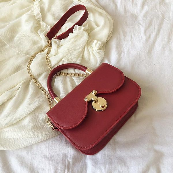 Bags Women's Bags New Fashion Texture Chain Bag Handbags Winter NHTC195575