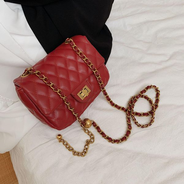 Women's bag new Korean rhombus chain bag fashion texture wild shoulder messenger bag NHTC195624