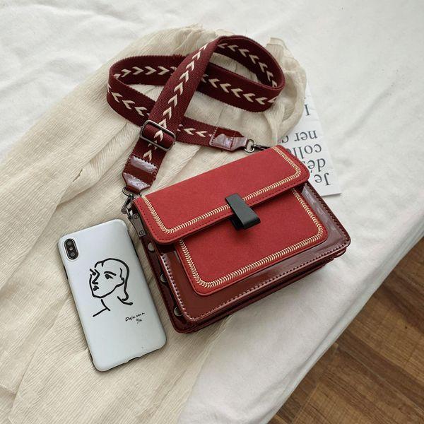 Bolso cuadrado pequeño de mensajero con un solo hombro salvaje de la nueva moda coreana de las mujeres NHTC195626