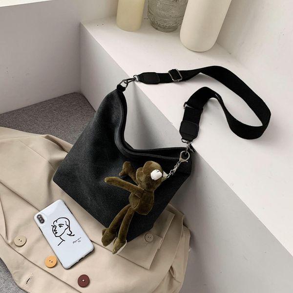Women's New Bucket Bag Broadband Messenger Bag Large Capacity Shoulder Bag NHTC195642