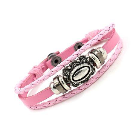 Nueva pulsera de cuero multicapa tejida a mano de joyería de moda NHHM195660's discount tags
