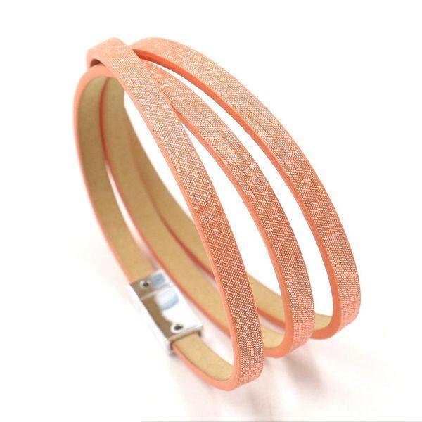New colorful glitter PU leather multilayer bracelet female bracelet jewelry NHHM195671