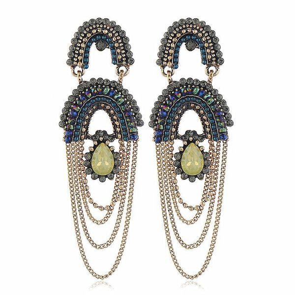 Tassel exaggerated women earrings NHVA195721