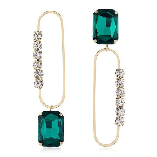 Exaggerated alloy gemstone earrings NHVA195723