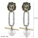 Wild jewelry ladies alloy national pearl earrings wholesale NHVA195740