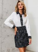 Black sweet commuter shirt skirt wholesale fashion womens clothing NHDE195827