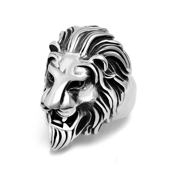 Anillo de cabeza de león con mejores ventas NHIM191526