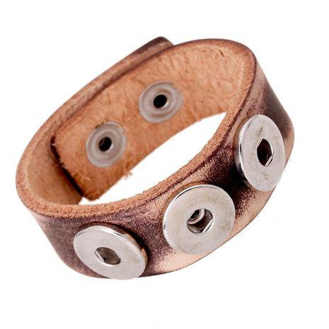 Noosa Button Bracelet Vintage NOOSA Leather Bracelet NHPK191569's discount tags
