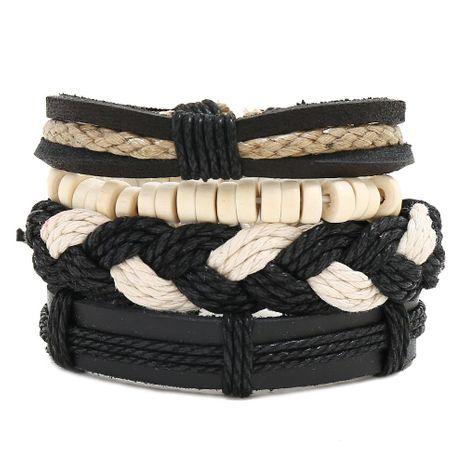 Woven suit leather bracelet vintage bracelet NHPK191578's discount tags