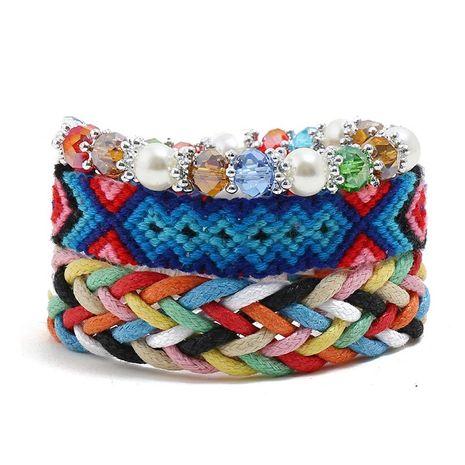 Wax Thread Hand Woven Bracelet Bohemian Vintage Bracelet Bracelet Wholesale NHPK191583's discount tags