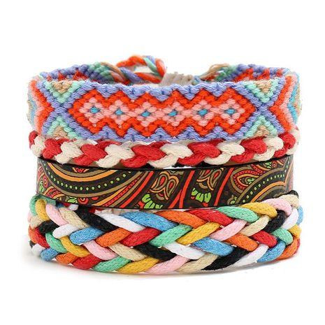 Bohemian vintage ethnic style woven bracelet diy four-piece women's bracelet NHPK191586's discount tags