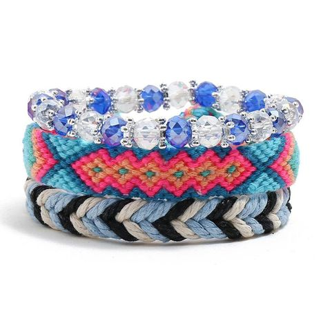 New boho vintage ethnic woven bracelet NHPK191587's discount tags