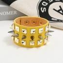 Mens Faux Leather Bracelet Punk Spike Stud Bracelet Jewellery NHPK191589