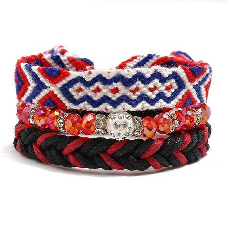 Hand-woven bracelet Geneva jewelry diy three-piece ladies beaded bracelet NHPK191594's discount tags