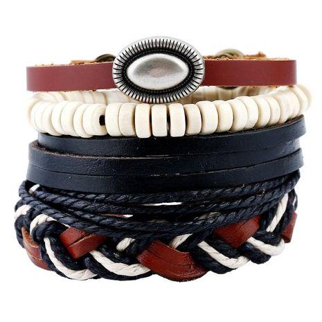 Vintage suit bracelet diy woven leather bracelet punk bracelet NHPK191605's discount tags
