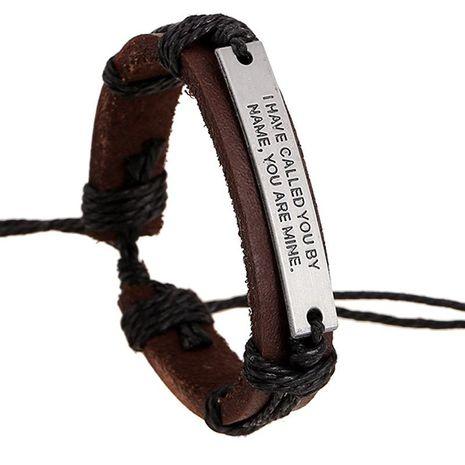 Alloy Letter Vintage Leather Bracelet NHPK191608's discount tags