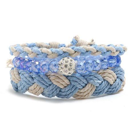 Simple DIY Combination Set Bracelet Ladies' Braided Bracelet NHPK191628's discount tags