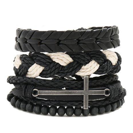 Combination leather suit men's bracelet vintage woven diy hemp rope bracelet NHPK191629's discount tags