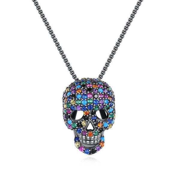 Necklace Fashion Hip Hop Lady Skull Pendant Necklace NHTM191647