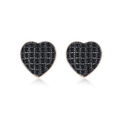 Earrings Fashion Heart Shaped Zircon Small Earrings Simple Earrings Wholesale NHTM191653's discount tags