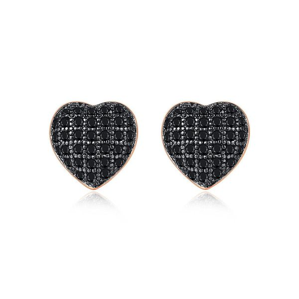 Earrings Fashion Heart Shaped Zircon Small Earrings Simple Earrings Wholesale NHTM191653