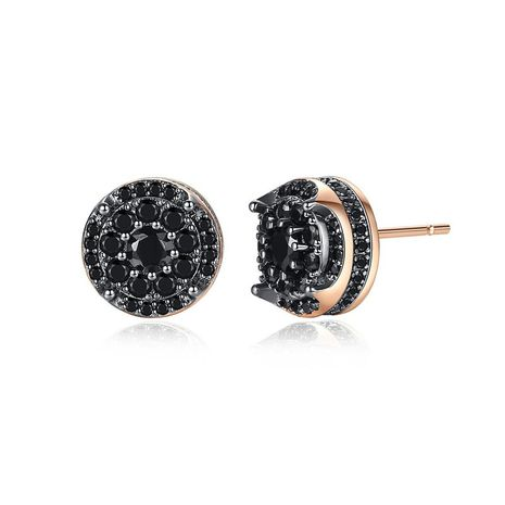 Stud earrings with micro-set small round earrings NHTM191655's discount tags