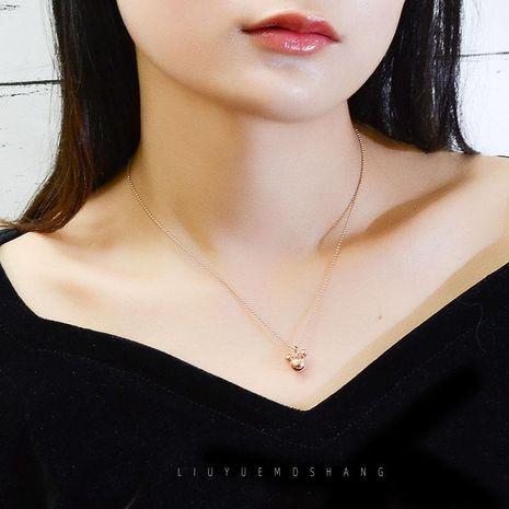 Élégant en acier au titane taille personnalisée  pendentif collier de souris de Noël NHOK191664's discount tags
