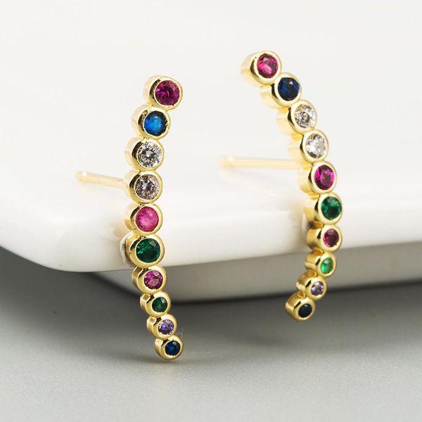 Hot Selling Women's Brass 18K Gold Earrings NHLN191689