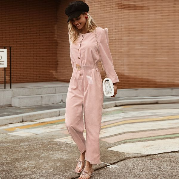 Sweet pink lace jumpsuit suit wholesale women's fashion clothing NHDE195869