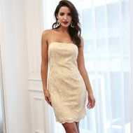 Sexy Strap Solid Color Dress Wholesale Fashion Women's Clothing NHDE195904