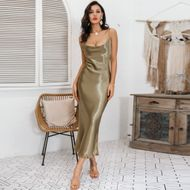 Golden Sexy Camisole Long Dress Wholesale Fashion Women's Clothing NHDE195905