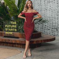 Red Bag Hip Dress Shoulder Wholesale Fashion Women's Clothing NHDE195918