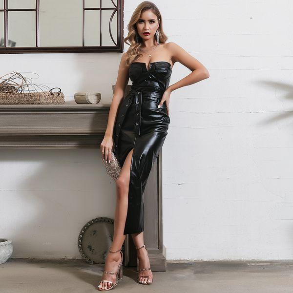 Camisole Long Dress Sexy Leg Splits Wholesale Fashion Women's Clothing NHDE195928