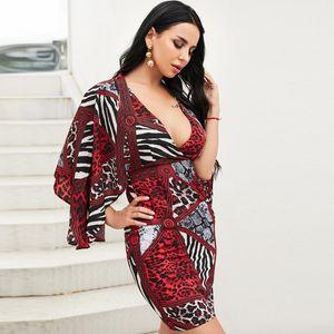 Big V-neck Red Dress Short Wholesale Fashion Women's Clothing NHDE195961