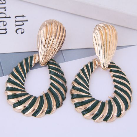 European and American fashion metal simple water drop exaggerated earrings NHSC191983's discount tags