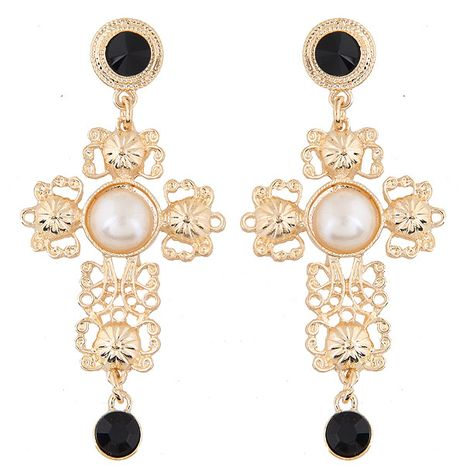 European and American fashion metal small pepper with the same cross temperament earrings NHSC191979's discount tags