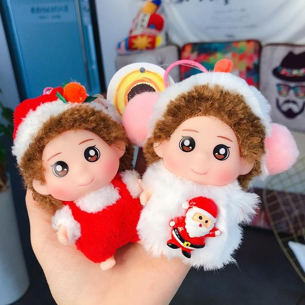 Cute Plush Christmas Doll Keychain Cute Keychain Circle Girls Backpack Pendant NHBM191794