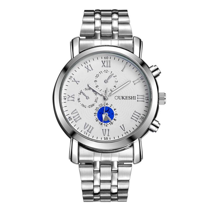 Men's Steel Band Watch Fashion Popular Roman Digital Quartz Business Watch Wholesale NHSY191885
