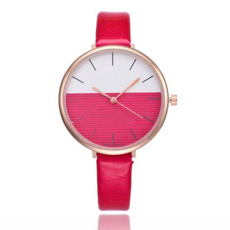 Reloj de moda coreana para mujer, correa delgada simple, esfera grande, correa de cuarzo, reloj casual al por mayor NHSY191886's discount tags
