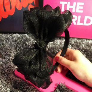 Spring cloth bud silk gauze multi-layer oversized bow wide edge hair hoop headband female NHSM191939's discount tags