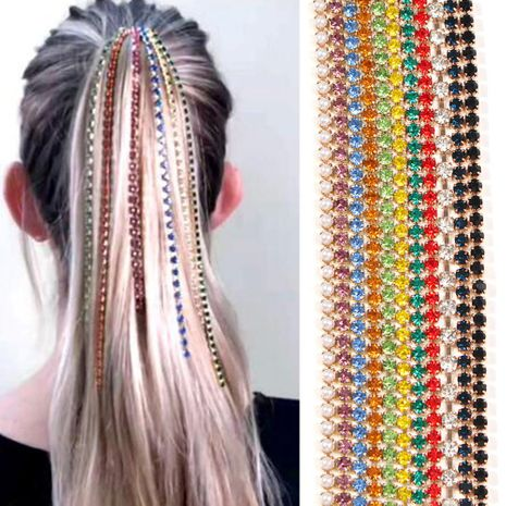 Nuevos accesorios para el cabello Borla Peine Plug Fancy Color Diamond Punk Head Clip NHMD191960's discount tags